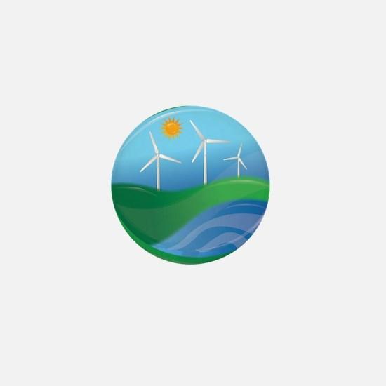 Green Energy Mini Button