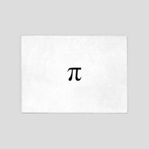 Pi symbol 5'x7'Area Rug
