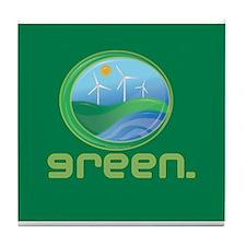 Green Energy Tile Coaster