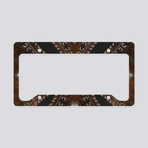 tooled leather western countr License Plate Holder