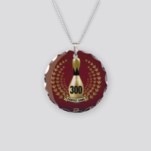 BOWLING - 300 - PERFECT GAME Necklace Circle Charm