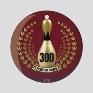 BOWLING - 300 - PERFECT GAME Round Ornament
