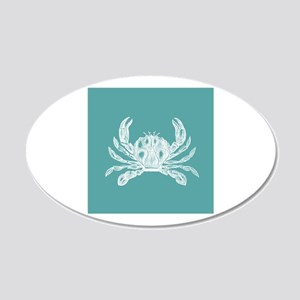 Turquoise Crab Wall Sticker
