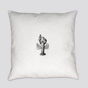 Black lobster Everyday Pillow