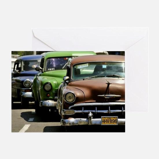 Cute Cuba cars Greeting Card