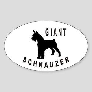 Giant Schnauzer Bold Text Oval Sticker