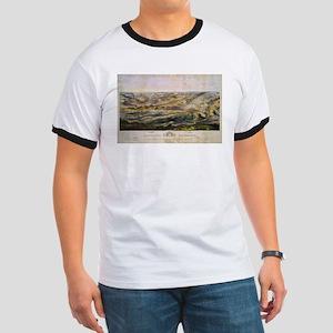 Vintage Map of The Gettysburg Battlefield T-Shirt