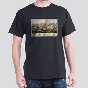 Vintage Map of The Gettysburg Battlefield T-Shirt