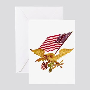 Marine corps birthday greeting cards cafepress american eagle greeting card m4hsunfo