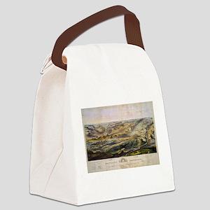 Vintage Map of The Gettysburg Bat Canvas Lunch Bag