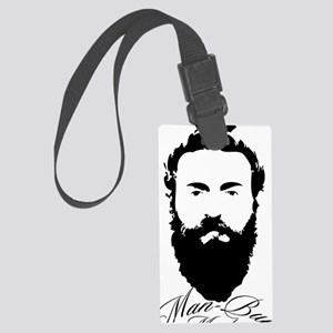 Man Bun Monday Large Luggage Tag