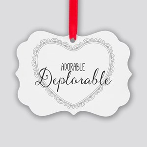 Adorable Deplorable Picture Ornament