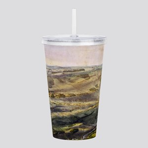 Vintage Map of The Get Acrylic Double-wall Tumbler