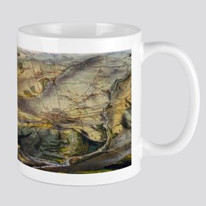 Vintage Map of The Gettysburg Battlefield (18 Mugs
