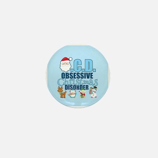 Obsessive Christmas Disorder Mini Button