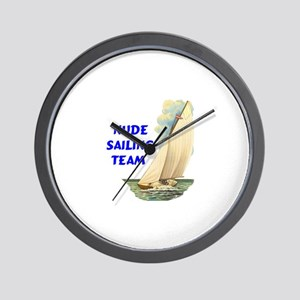 NUDE SAILING Wall Clock