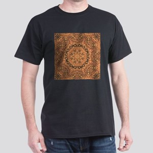 western cowboy tooled leather T-Shirt