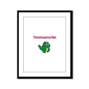 Trevorosaurus Rex Framed Panel Print
