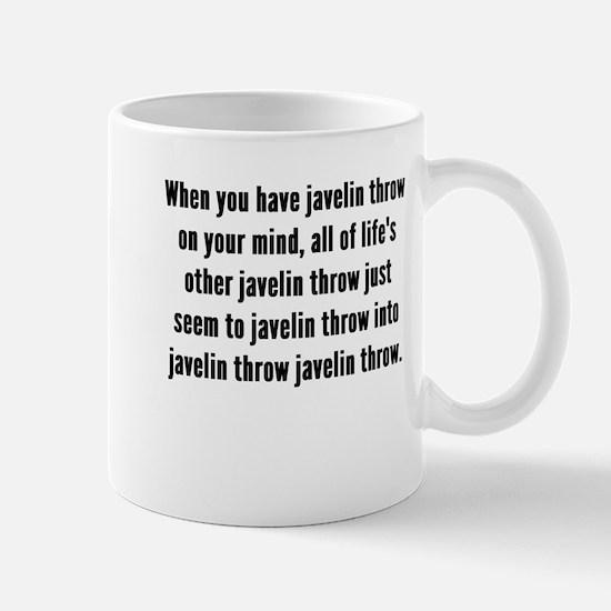 Javelin Throw On Your Mind Mugs