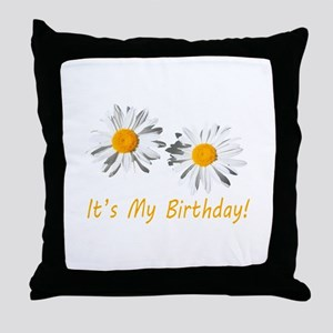 Lovely white daisy flowers, it's my b Throw Pillow