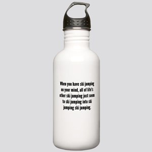 Ski Jumping On Your Mind Water Bottle