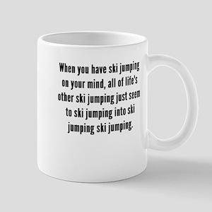 Ski Jumping On Your Mind Mugs