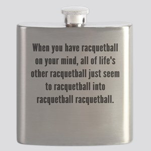Racquetball On Your Mind Flask