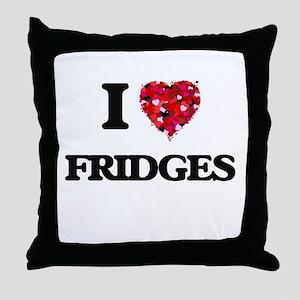 I love Fridges Throw Pillow
