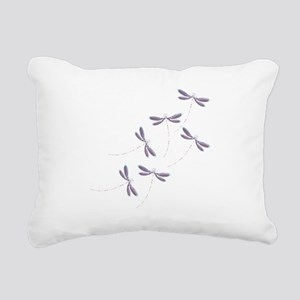 Dragonfly flight Rectangular Canvas Pillow