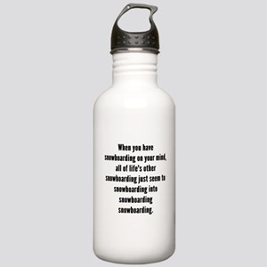 Snowboarding On Your Mind Water Bottle
