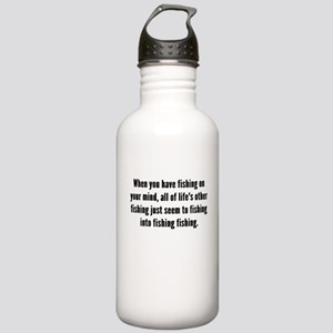 Fishing On Your Mind Water Bottle