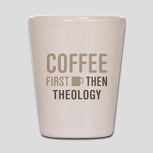 Coffee Then Theology Shot Glass
