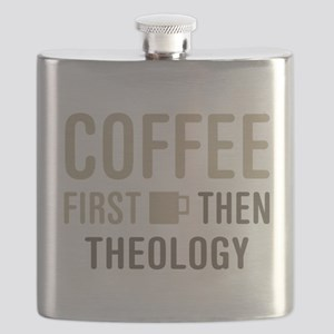 Coffee Then Theology Flask