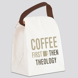 Coffee Then Theology Canvas Lunch Bag