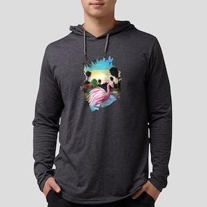 Flamingos Paradise Long Sleeve T-Shirt