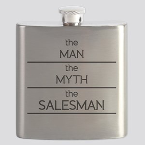 The Man The Myth The Salesman Flask