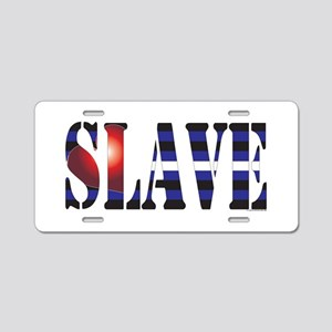 Slave Aluminum License Plate