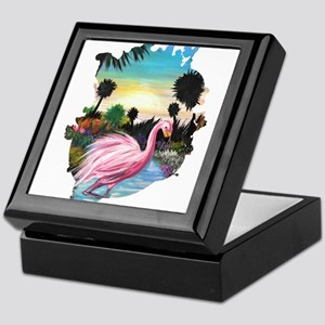 Flamingos Paradise Keepsake Box
