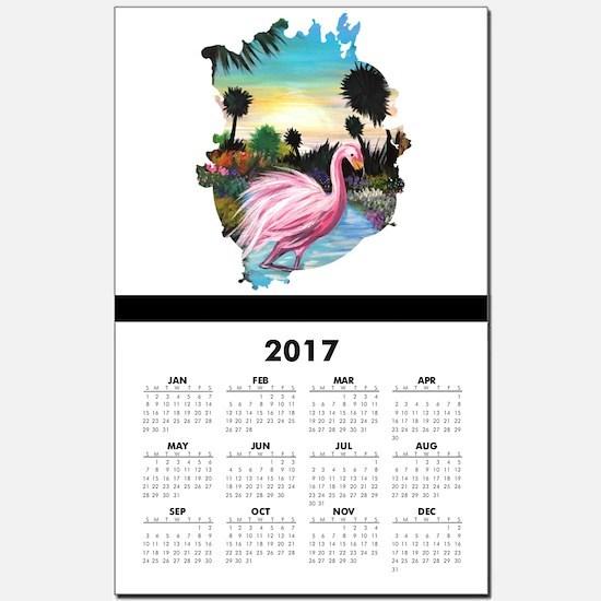 Flamingos Paradise Calendar Print