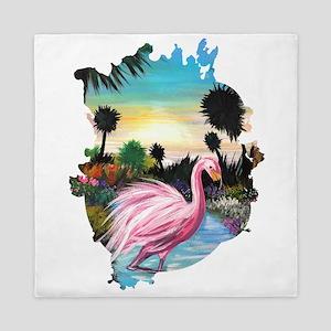 Flamingos Paradise Queen Duvet