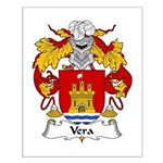 Vera Family Crest Small Poster
