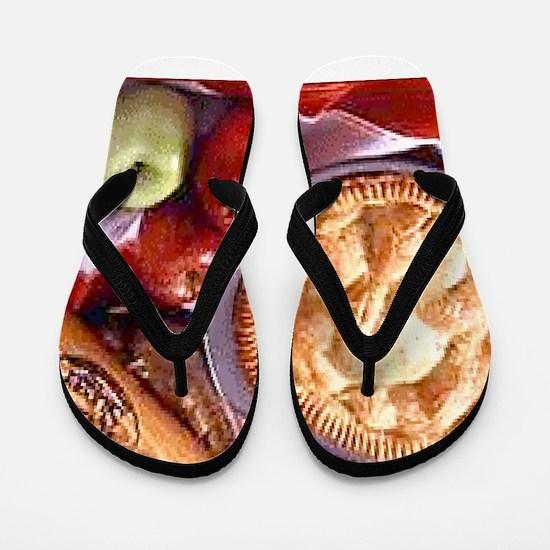 Apple Pie Flip Flops