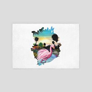 Flamingos Paradise 4' x 6' Rug