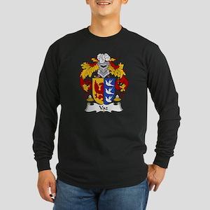 Vaz Family Crest Long Sleeve Dark T-Shirt