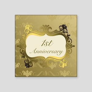 Fancy 1st Wedding Anniversary Sticker