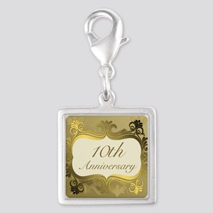 Fancy 10th Wedding Anniversary Charms