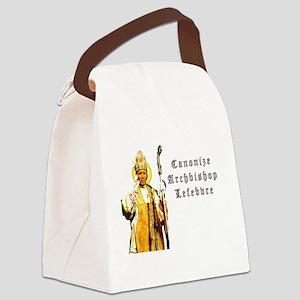 Canonize Abp. Marcel Lefebvre Canvas Lunch Bag