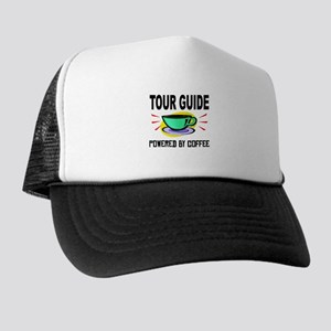 Tour Guide Powered By Coffee Trucker Hat