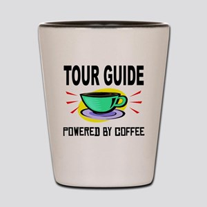 Tour Guide Powered By Coffee Shot Glass