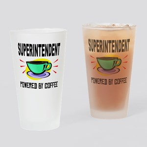 Superintendent Powered By Coffee Drinking Glass